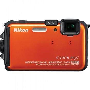 Nikon Coolpix AW100 oranžový
