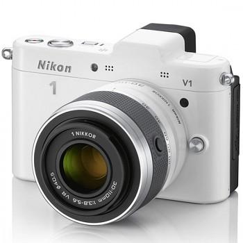 Nikon 1 V1 + 10-30 VR + 30-110 VR bílý