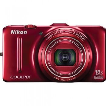 Nikon Coolpix S9300 červený