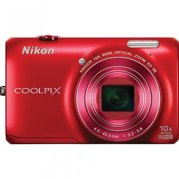 Nikon Coolpix S6300 červený