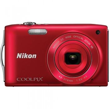 Nikon Coolpix S3300 červený