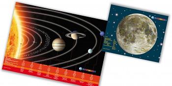BRESSER JUNIOR Astro Set plakát a podložka na stůl