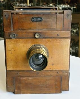 Dřevěný Fotoaparát 18x24 Union Hugo Sůcking Dresden +2x Kazeta