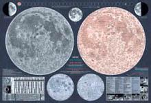 Mapa Měsíce složená 113x83 cm s katalogem