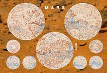 Mapa Marsu složená 112x83 cm s katalogem