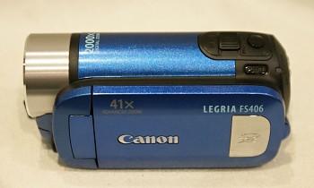 Canon Legria FS 406 + nabíječka a sítový zdroj , chybí Baterie