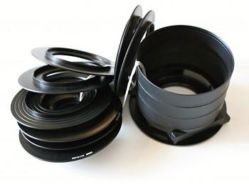 Držák filtru Sinar 547.51.000 100 mm s trubkou, jako nový.+ adaptéry