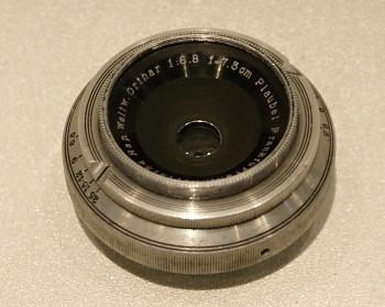 Objektiv Plaubel Makina model III 73mm 1:6,8f na 6x9