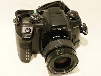 Minolta Maxxum 7 objektiv 35-80mm 1:4-5.6