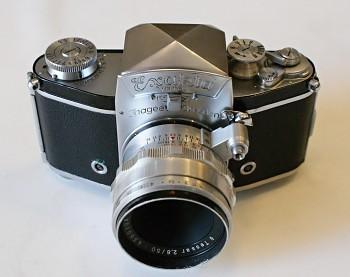 Exakta Varex Vx objektiv Tessar 2,8/50mm