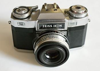 Zeiss Ikon obj. Tessar 2,8/50mm + Brašna