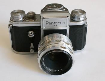 Pentacon FB obj Tessar 2,8/50mm + Brašna