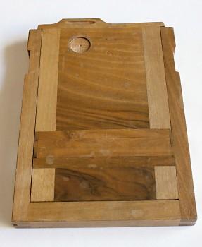 Dřevěná kazeta na plán film 13x18