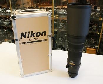 Objektiv Nikon N AF-S Nikkor 500mm 1:4G ED VR + Kufr + Clona
