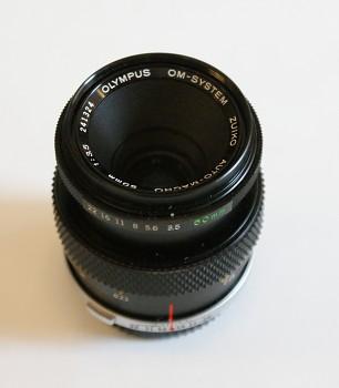 Objektiv Olympus OM 50mm 1:3,5 F Macro  m Fokus