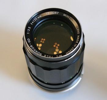Objektiv Minolta 135mm 1.3,5 f Bajonet MD Manual fokus