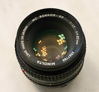 Objektiv Minolta 50mm/1.7f