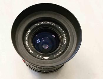 Objektiv Minolta 28mm/3,5F MC W Rokkor