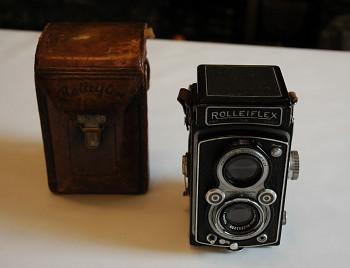 Rolleiflex 6x6 Obj: Tessar 1:3,5F 75mm + Brašna