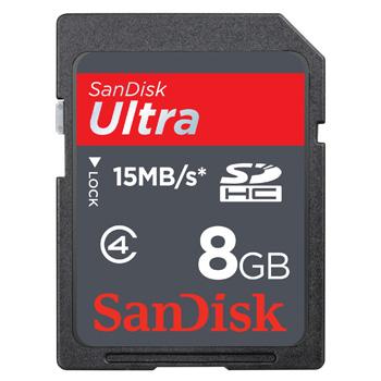 SanDisk SDHC Card Ultra, 15MB/s 8GB